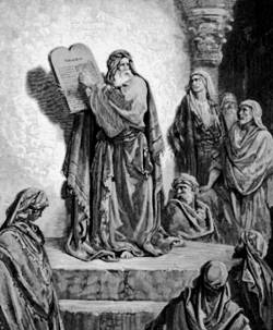 Moses Presents the Ten Commandments to the People