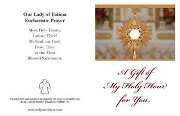 Eucharistic Adoration Resources - Brochures, Books, Videos